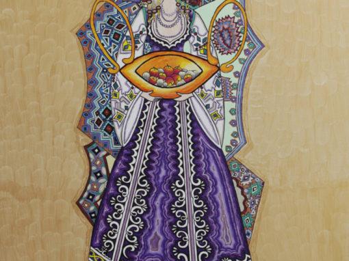 Lazarka viola. rif. A14
