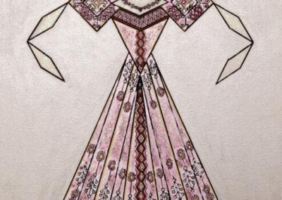 Danseuse Classica Vestito Rosa Glitter Fondo Argento rif. E1