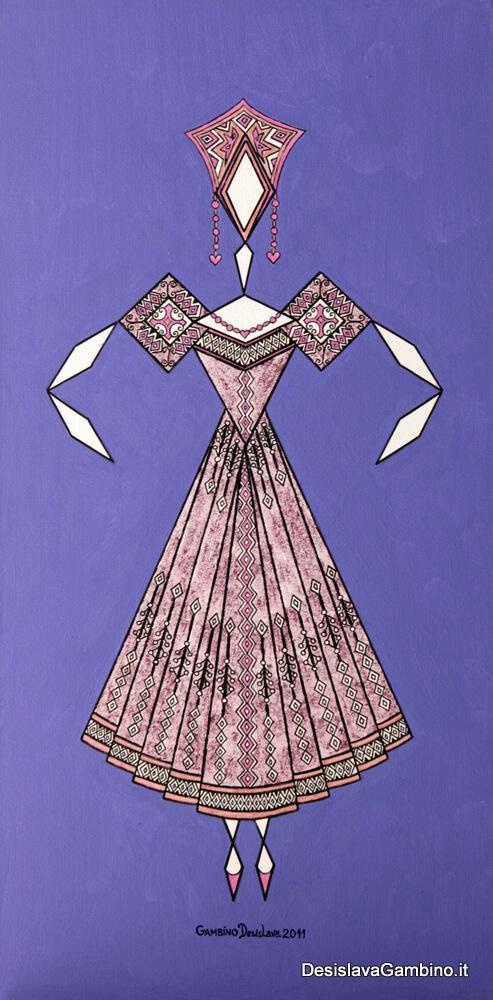 Danseuse Classica Vestito Viola Glitter Fondo Blu Viola rif. E10
