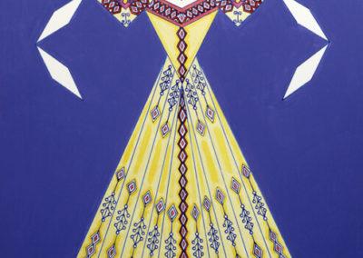 Danseuse Classica Vestito Giallo Fondo Viola rif. E15
