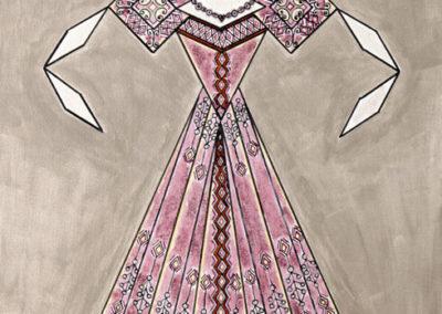Danseuse Classica Vestito Rosa Glitter Fondo Argento 2  rif. E2