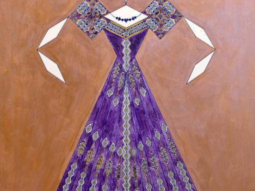 Danseuse Classica Vestito Viola Glitter Fondo Bicolore rif. E20