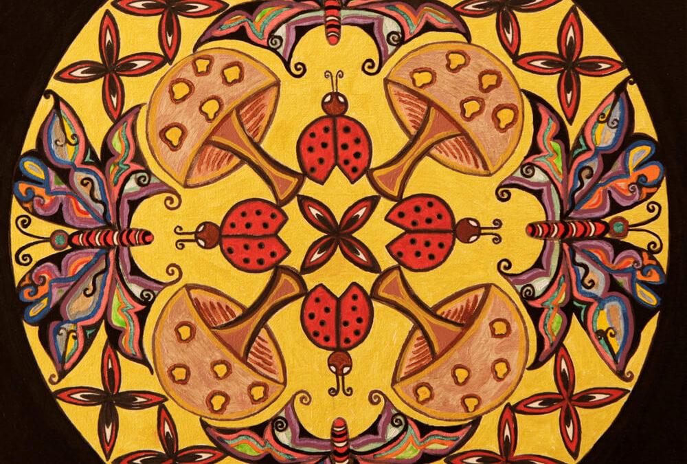 Farfalle Funghi e Coccinelle  rif. G31