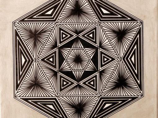 Esagono con Triangoli Bianco Nero rif. H9