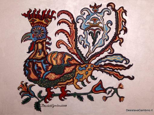 Gallo reale fondo Argento rif. i11