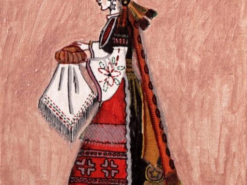 Fanciulla con costume tradizionale bulgaro rif. i16