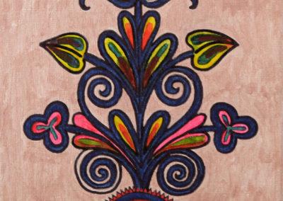 Ornamento fondo Rosa Metal rif. i17