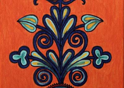 Ornamento fondo Arancio rif. 18