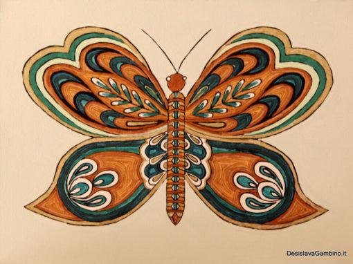 Farfalla Verde Oro Ducato rif. i35