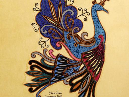 Pavone Reale in Blu – Omaggio rif. i39