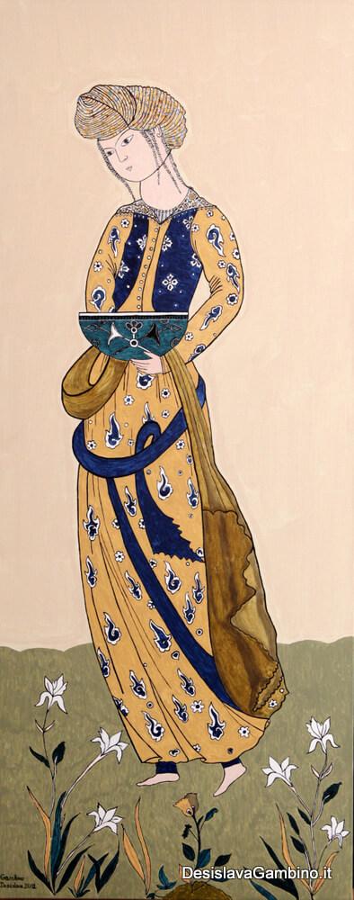 Omaggio ai Maestri Arabi – Fanciulla Araba rif. i4